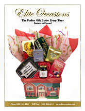 Image of housewarming party gifts from Elite Occasions Gift Baskets catalog