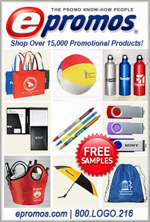 Picture of promo items from ePromos catalog