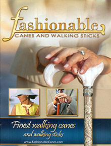 Picture of walking canes from Fashionable Canes catalog
