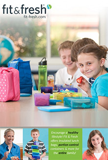 Picture of fit and fresh lunch bags from Fit & Fresh catalog