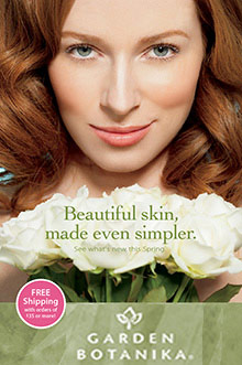 Picture of natural organic skin care from Garden Botanika catalog