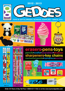 Picture of school supply catalogs from Geddes catalog