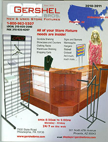 Picture of Store display fixtures, counters and cases from Gershel catalog