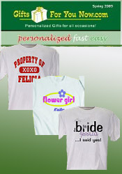 Image of wedding t shirts from GiftsForYouNow.com catalog
