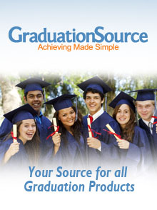 Picture of graduation cap and gowns from Grad Source catalog
