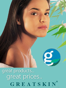 Picture of facial skin care from GreatSkin catalog