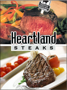 Picture of porter house steak from Heartland Steaks catalog