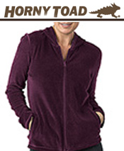 Image of women's fleece pullovers from Horny Toad Activewear catalog