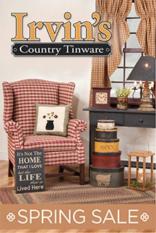 Picture of irvin's country tinware from Irvin's Country catalog