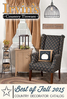 Picture of irvin's country tinware from Irvin's Country Tinware catalog