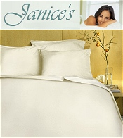 Image of organic bed sheets from Janice's catalog