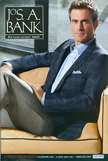Picture of men's clothing suits from Jos. A. Bank catalog