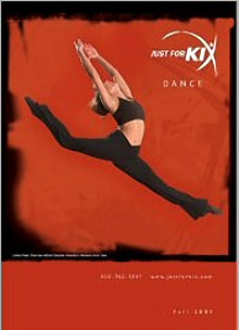 Picture of dance costumes from Just For Kix catalog