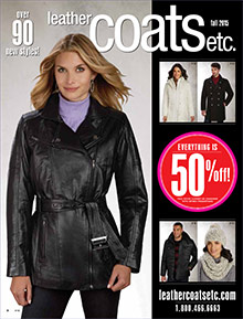 Picture of women's leather coats from Leather Coats catalog