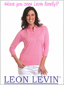 Picture of womens polo shirts from Leon Levin catalog