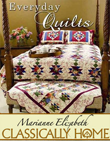 Picture of easy quilt patterns for beginners from Marianne Elizabeth Quilting catalog