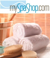 Picture of spa bath and body products from mySpaShop catalog