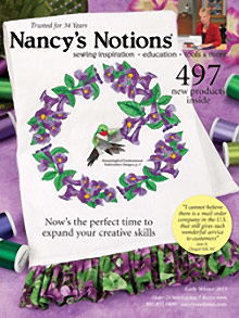 Picture of sewing supplies from Nancy's Notions catalog