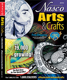 Picture of kids arts crafts from Nasco Arts & Crafts Supplies catalog