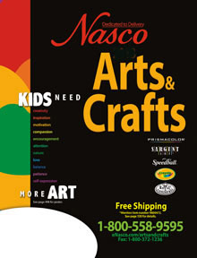 Picture of kids arts crafts from Nasco catalog