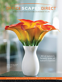 Picture of silk floral arrangements from Office Scapes Direct catalog