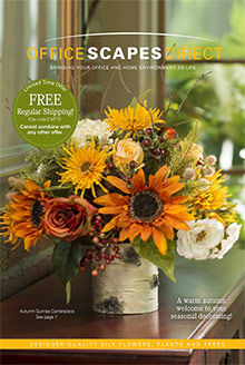 Picture of silk floral arrangements from OfficeScapesDirect catalog