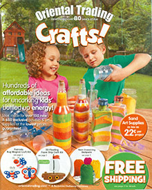 Picture of craft stores from Oriental Trading catalog