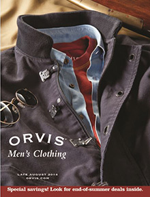 Picture of orvis men's clothing from Orvis catalog