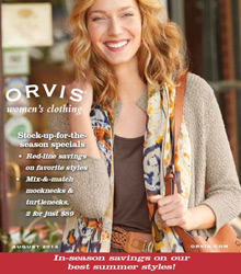 Picture of casual women's clothing from Orvis catalog