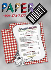 Image of restaurant menu paper from PaperDirect�  catalog