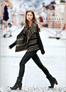 Picture of women's cardigans from Peruvian Connection catalog