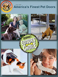 Picture of pet doors from PetDoors.com catalog