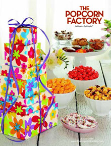 Picture of popcorn factory coupon from The Popcorn Factory catalog