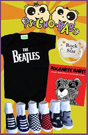 Image of cool baby t shirts from Psycho Baby catalog