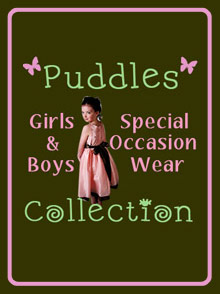 Picture of formal dresses from Puddles Collection catalog
