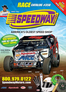 Picture of racing parts catalog from Race Catalog by Speedway Motors catalog