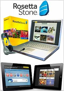 Picture of rosetta stone catalog from Rosetta Stone catalog