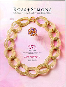 Picture of jewelry catalogs from Ross-Simons catalog