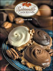 Picture of unique holiday gift basket from Savannah's Candy Kitchen catalog