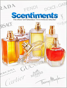 Picture of top selling perfumes from Scentiments catalog