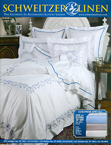 Picture of linens for the home from Schweitzer Linen catalog