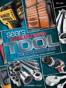 Picture of sears tool catalog from Sears - America's Tool Headquarters catalog