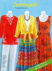 Picture of women's pant sets from Serengeti catalog
