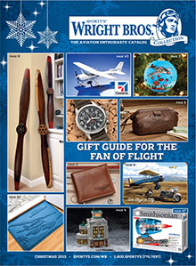 Picture of airplane catalog from Sporty's Wright Bros. catalog