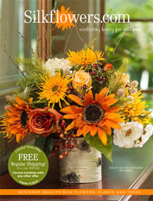 Picture of silk flower arrangements from Silkflowers catalog
