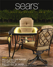 Picture of outdoor living patio from Sears catalog