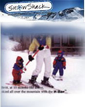 Image of kids ski equipment from Snow Shack catalog