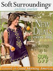 Image of discount linens and bedding from Soft Surroundings Outlet catalog