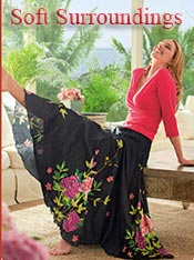 Image of summer casual skirts from Soft Surroundings catalog