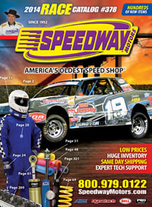 Picture of racing parts catalog from Speedway Motors catalog